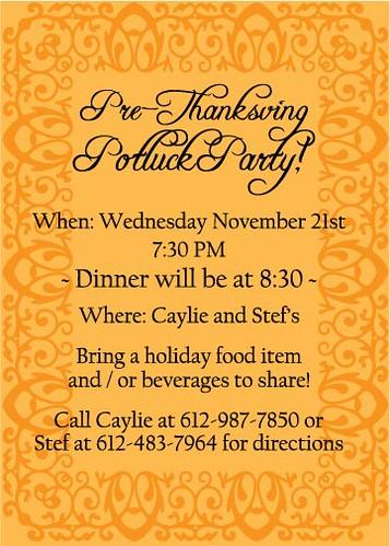 thanks-potluck-invite   thanksgiving potluck invitation   Flickr ...