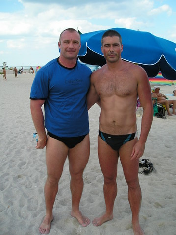 Pascale And Mikael Two French Guys At The Beach Taken