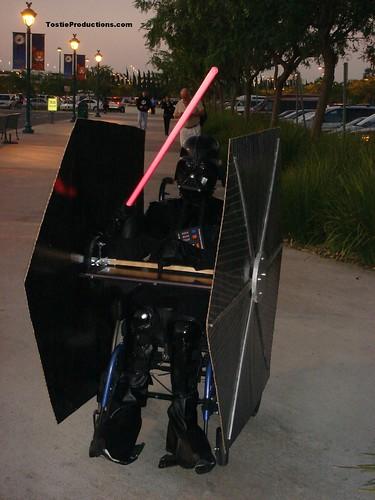 Halloween wheelchair, Darth Vader Tie Fighter Costume, Happy Halloween Haunting