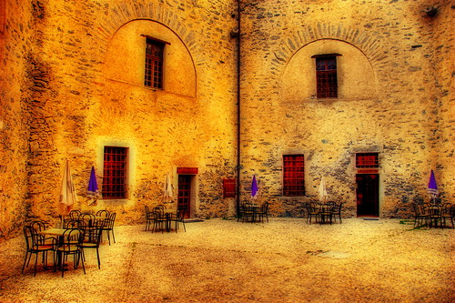 Restaurant in an old fort
