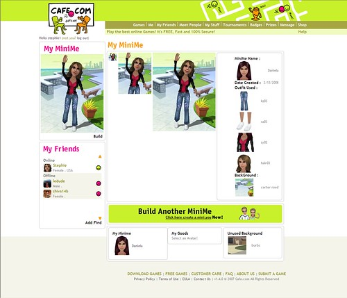 My MiniMe Page