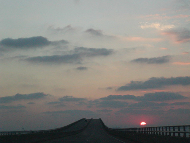 NC - Sunrise from the Virginia Dare Memorial Bridge #3
