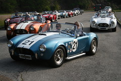 race car, automobile, vehicle, antique car, classic car, vintage car, land vehicle, ac cobra, convertible, sports car,
