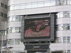 led display, architecture, window covering, display device, condominium, facade, flat panel display, billboard, advertising,