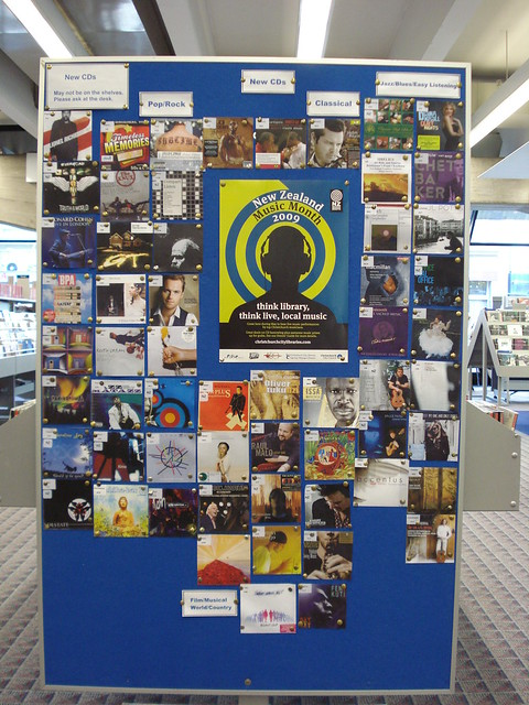 Central Library New Zealand Music Month Display