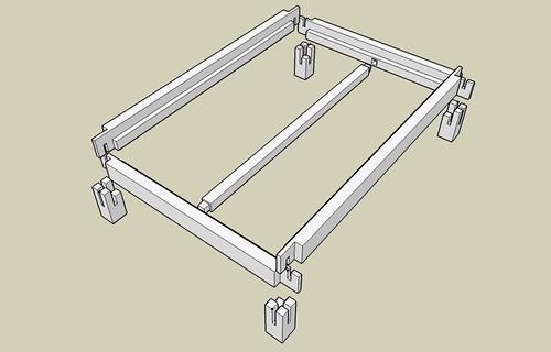 Platform Bed Frame Exploded Assembly Flickr Photo
