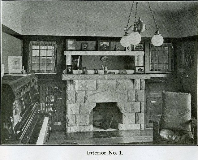 Arts and Crafts Interior - 1910 - Living Room or Parlor ...