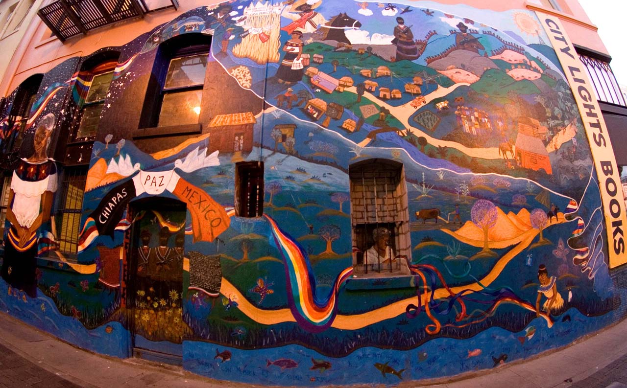 City lights 39 mural flickr photo sharing for City lights mural
