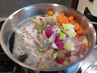 Chicken stock - with veggies