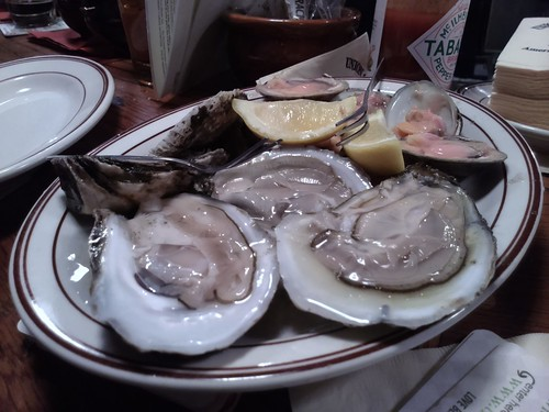 Oysters and clams on the half shell