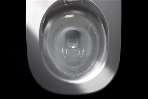 The NEOREST 750H Actilight Bowl of a high tech toilet by Toto