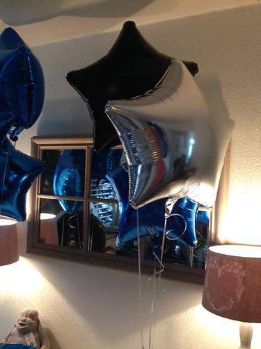 Tafeldecoratie 3ballonnen Folieballonnen Ster