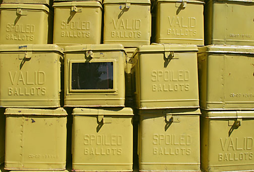An image of ballot boxes by Keith Bacongco on Flickr