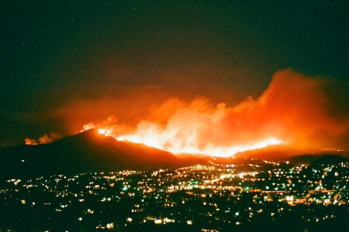 Mt. Miguel Burning, San Diego Wildfires