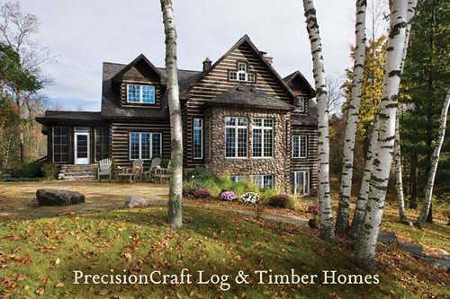 Precisioncraft Log Timber Homes Custom Milled Hybrid
