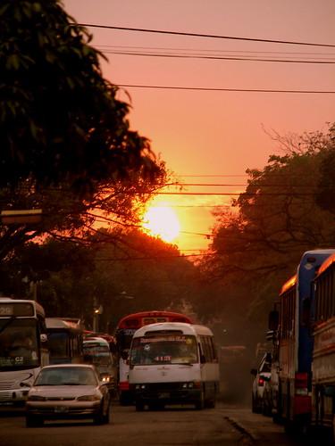 sunset sun sol atardecer smog pollution salvador elsalvador sansalvador centroamerica neoslv