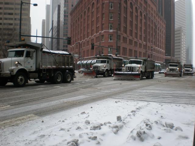 snow plows in Denver, Colorado