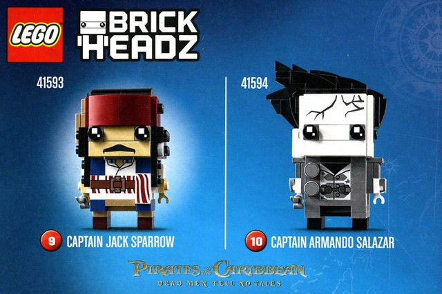 Lego BrickHeadz Pirates of the Caribbean First Look