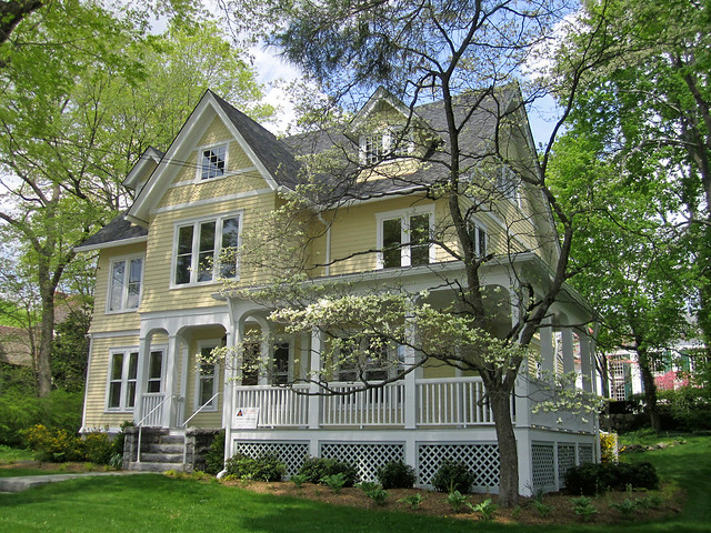 Victorian House With Veranda New Canaan Connecticut A