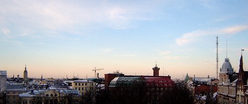 Helsinki November sunset