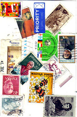 art, pattern, postage stamp, collage,