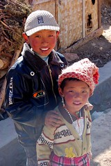 Tibetan Children smiling