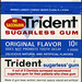 Trident sugarless gum - original flavor - 10-cent package - 1970's