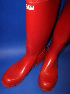 HUNTER tall red gloss