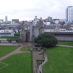 Overview of Cardiff City Centre from Cardiff Castle