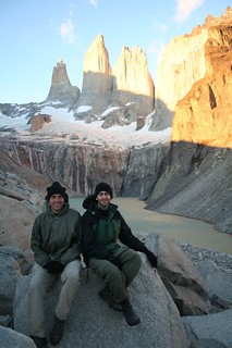 Scott and Chad watching the sunrise at Torres Del Paine