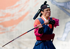 Sword style from 24 martial arts in suwon south korea