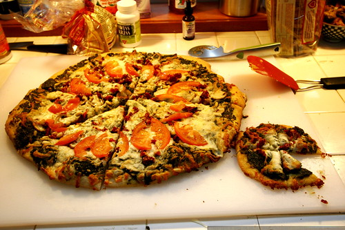big pesto pizza, little pesto pizza    MG 1615