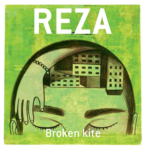 CD cover illustration for REZA Broken kite