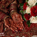 Mehnaz Bridal Palms full color with roses