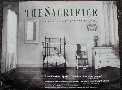 'The Sacrifice' Poster (Britain, 1986) by ANDREI TARKOVSKY: MEMOIRE