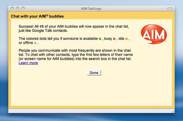 Aim App Chat Room