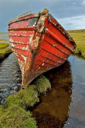 Red boat in Belmullet