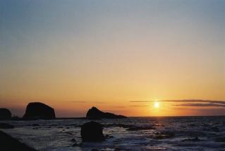 ウトロ夕陽 from ウトロ港邊
