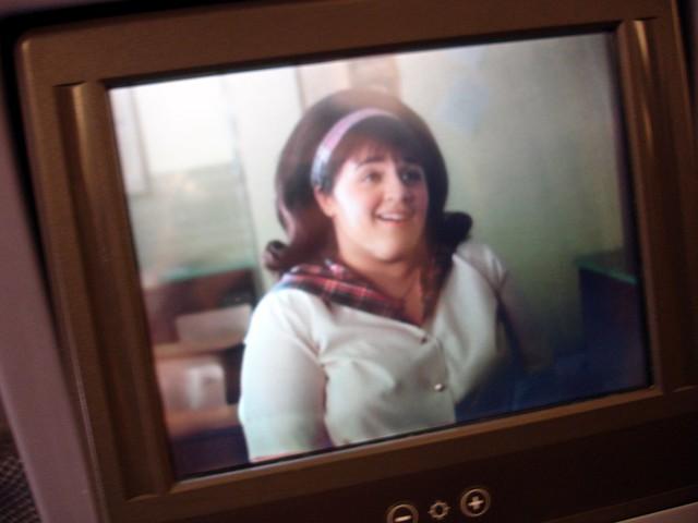 在飞机上看《发胶明星梦》hairspray