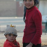 Kashgar Animal Market: Uighur Brother and Sister - China