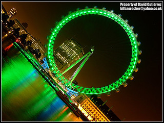 London Eye Night Green Color