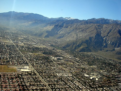 Aerial Photo: Palm Springs CA, Looking South From Vista Chino & Palm Canyon