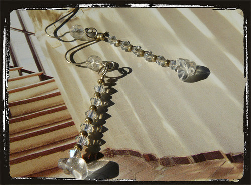 Orecchini trasparenti - Crystal earrings MEHBCRI