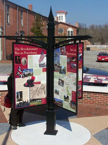 Kiosk, historic/history interpretation, Petersburg, VA