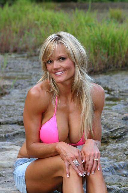 Pink bikini outside