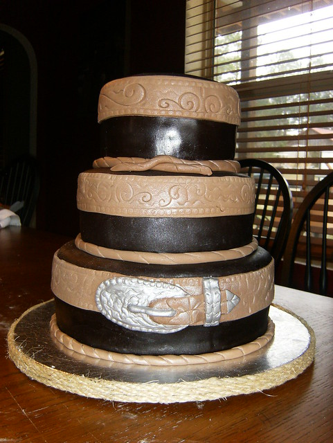 Western Wedding Cake Chocolate Fondant