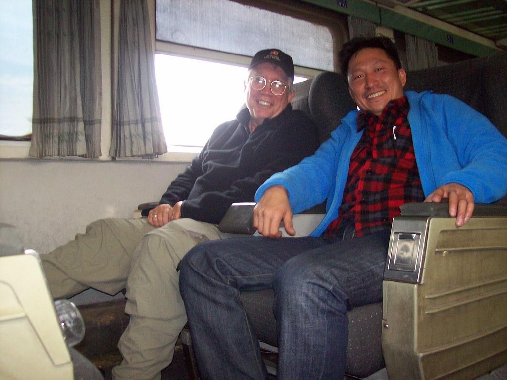 Me and Sashu on Train
