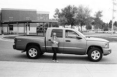 chevrolet silverado(0.0), automobile(1.0), automotive exterior(1.0), commercial vehicle(1.0), pickup truck(1.0), vehicle(1.0), truck(1.0), dodge dakota(1.0), bumper(1.0), land vehicle(1.0),
