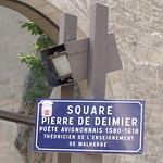 Avignon - Square Pierre de Deimier - road sign