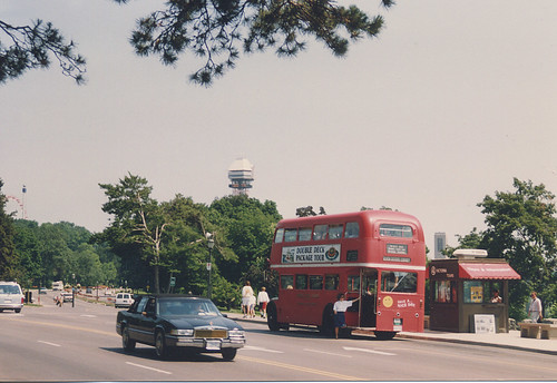 A former London England double decker bus.  Niagra Falls Ontario Canada.  July 1989. by Eddie from Chicago